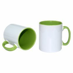 Kubek ceramiczny zielony środek