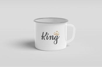 Kubek metalowy dla niego King